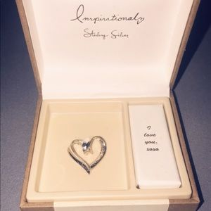 Straight from the heart sterling silver pendant